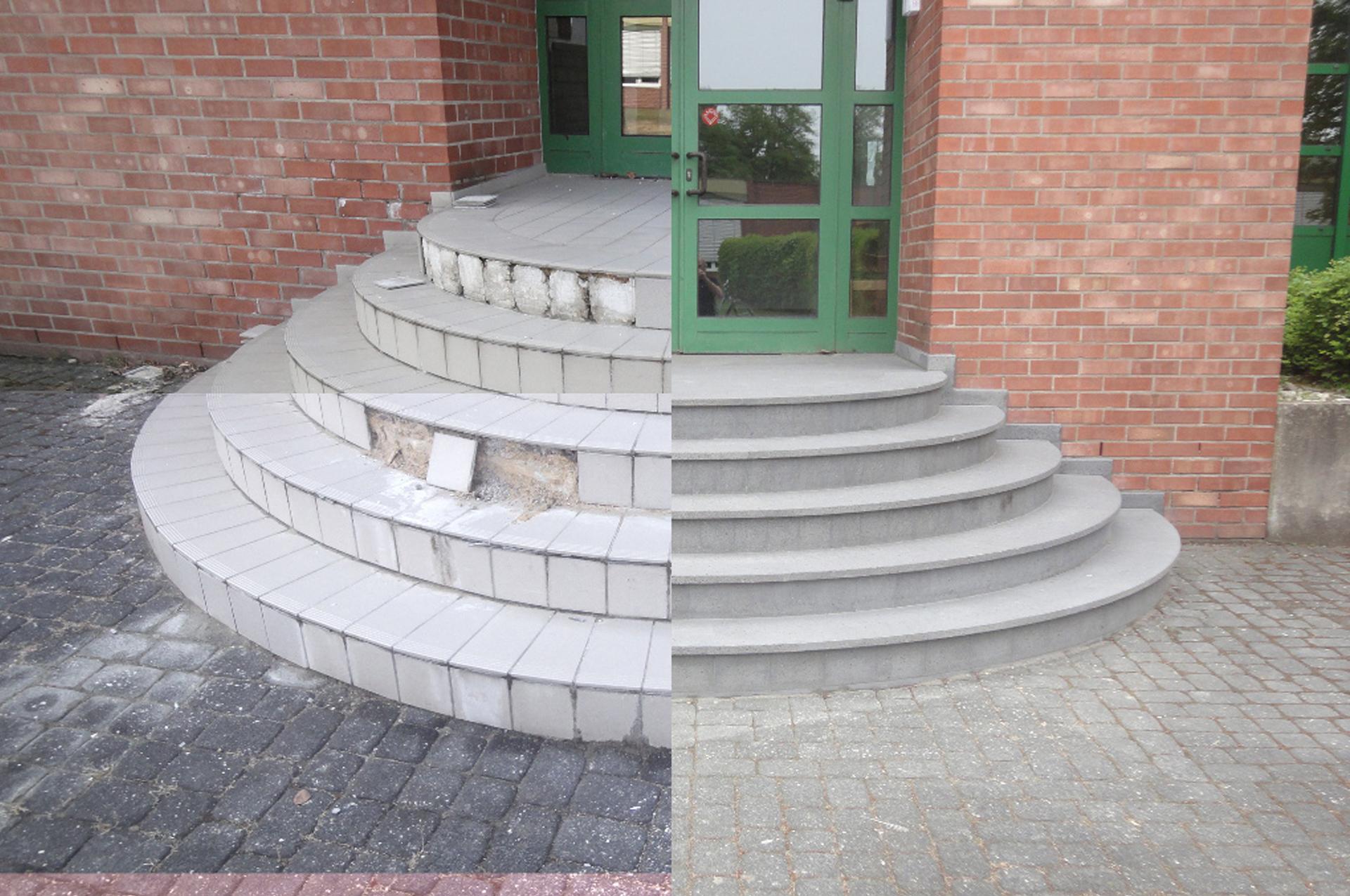 Treppe Vorher|Nachher